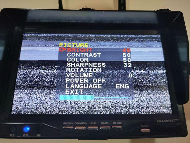 Monitor FPV com bateria