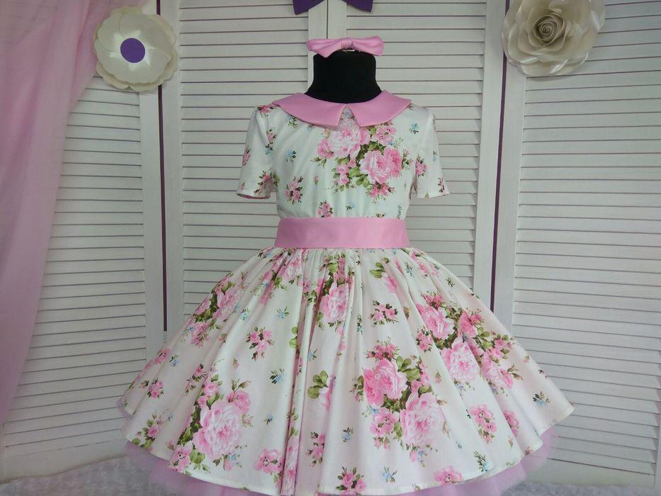 Продаю шикарное платье ручной работы  рост 116-128 Первомайск - изображение 1