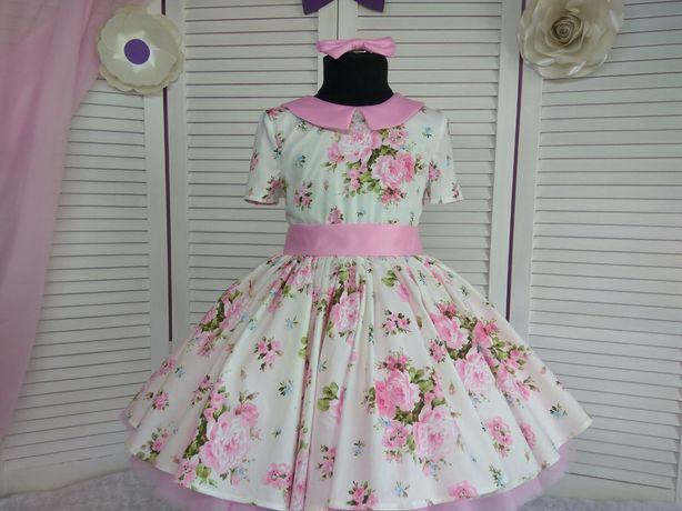 Продаю шикарное платье ручной работы  рост 116-128