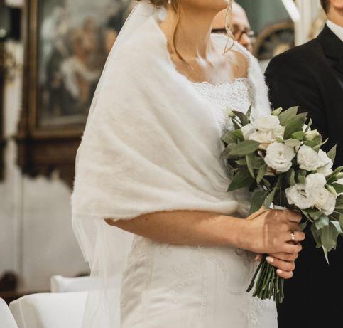 Etola narzutka biała ślubna ciepła