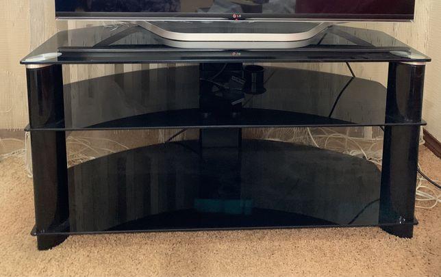Тумба под телевизор черное стекло