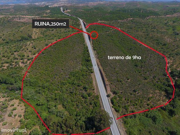 Terreno de 9ha com Ruina 250m2, Alqueva, Alentejo