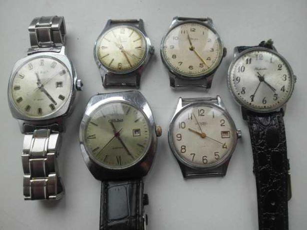 Zamienię 6 zegarków rosyjskich mechanicznych na zegarek kieszonkowy