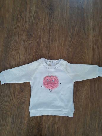 Bluza dla dziewczynki rozmiar 74 pluszowa