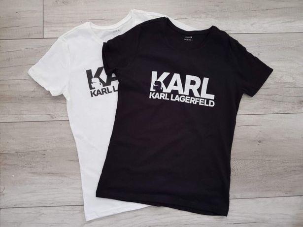 Koszulka damska t-shirt Karl Lagerfeld negatyw 2 kolory 4 rozmiary