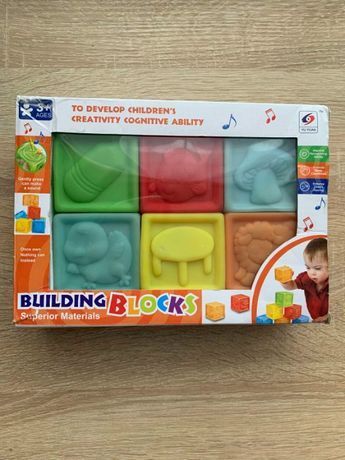 Іграшки кубики резинові 6 шт.