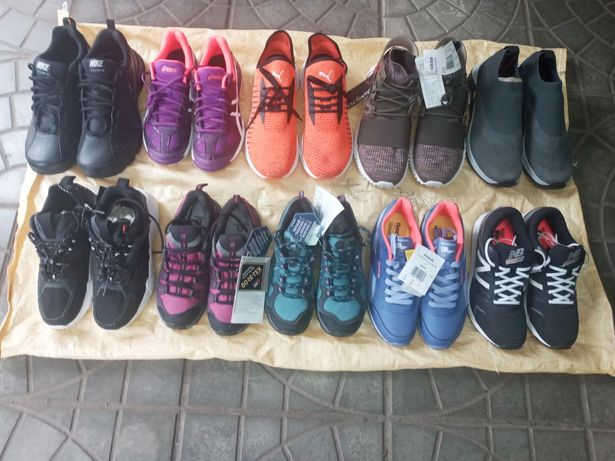Кроссовки Сток оптом, stock. Adidas Nike Merrell Solomon Reebok