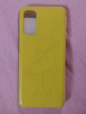 Etui Samsung S20 żółte otwierane klapka clear view