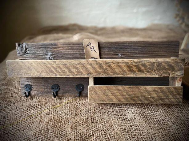 Drewniany wieszak Wieszak z drewna Rękodzieło Loft Hand made 18x50 cm