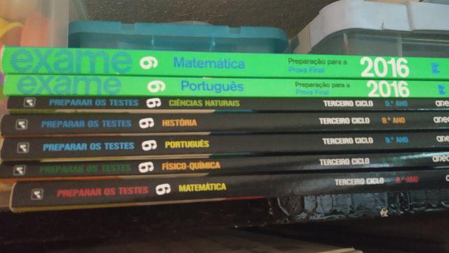 Livros de preparação para testes 9 ano e prova final