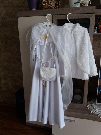 Alba sukienka komunijna kompletna dla dziewczynki