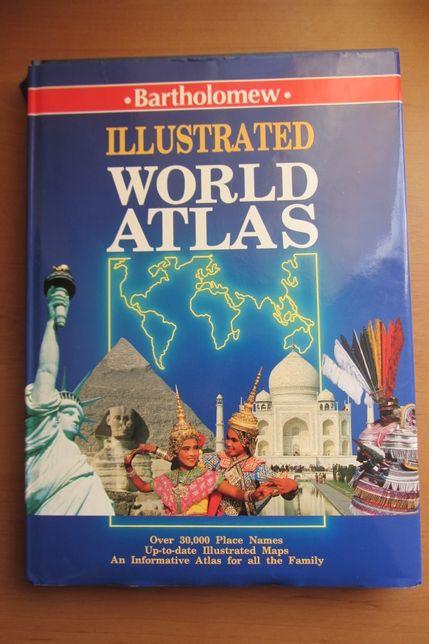 Illustrated World Atlas English Книга Атлас світу Англійською Мир
