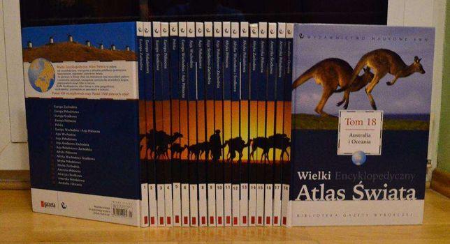 18 tomów kolekcji Wielki Encyklopedyczny Atlas Świata
