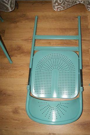 Krzesła Ikea frode turkusowe