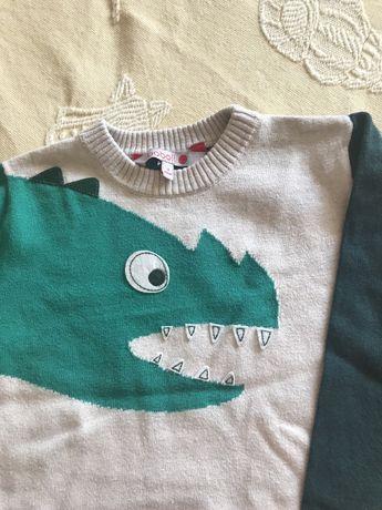 Camisola dinosauro e camisa, boboli 3 anos