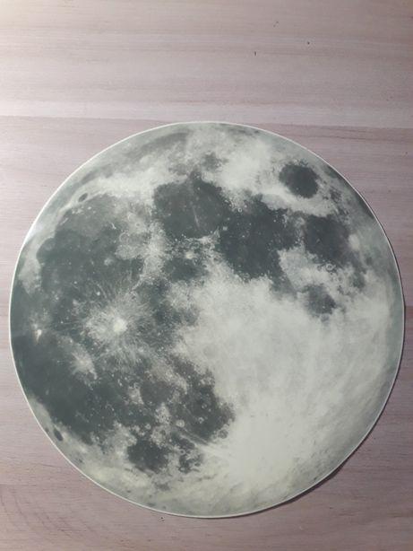 Большая наклейка луна , светится в темноте на потолок , стену , обои