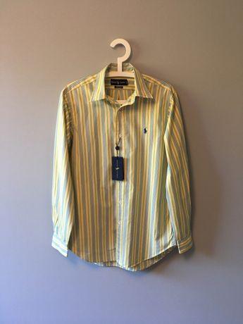Ralph Lauren koszula męska S żółta w paski NOWA i ORYGINALNA