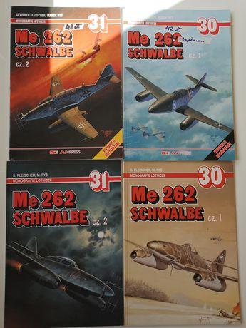 Me 262 SCHWALBE cz. 1 i 2 monografie lotnicze