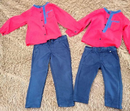 Family look для хлопчиків, рубашка і штани 80 і 104 розміру
