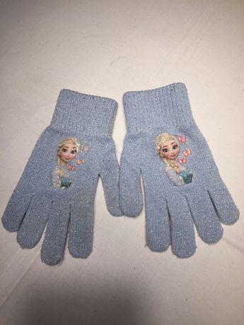 Czapka rękawiczki kraina lodu elsa