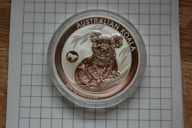 Kolekcjonerska srebrna moneta Australian Koala 2019 Pig Privy Mark