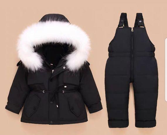 Костюм зимний детский. комбинезон и куртка