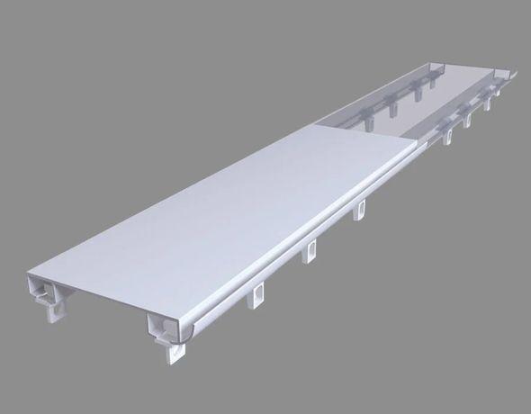 Карниз потолочный алюминиевый усиленный двухрядный, DS-2, 100см
