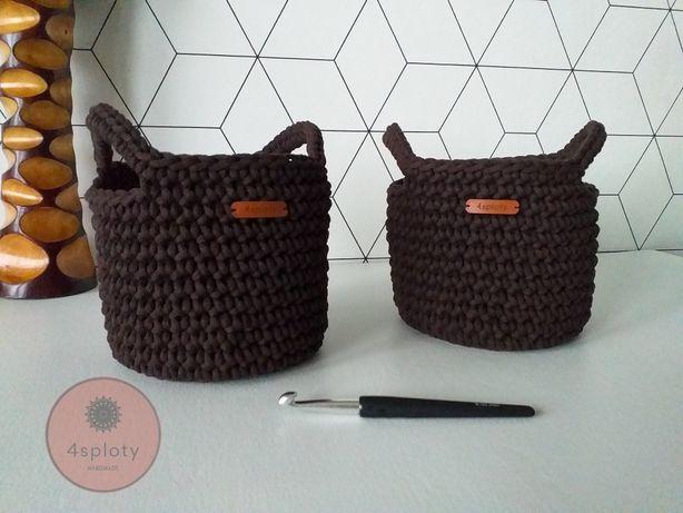 Kosz koszyk ręcznie robiony na szydełku rękodzieło handmade