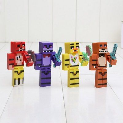 Фигурки аниматроники майнкрафт, fnaf minecraft, 4 шт. набор