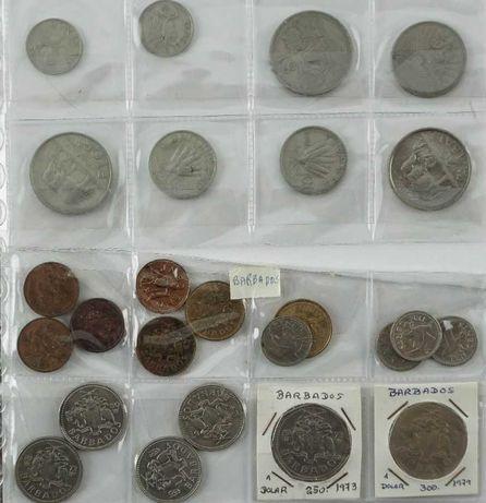 Coleção de 244 Moedas Antigas de vários países mundiais