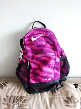 Plecak Nike Max Air różowo-fioletowy z elementami odblaskowymi