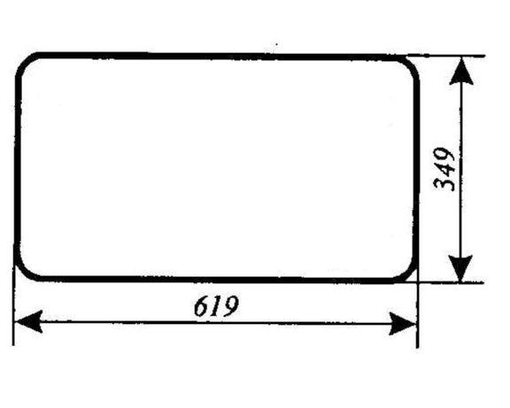 Szyba tylna dolna Ursus 1634 ACX177