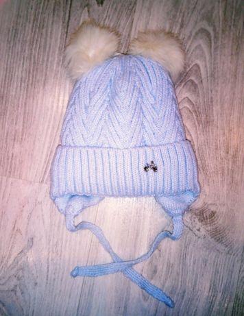 Зимняя шапка для малыша. Размер 44.