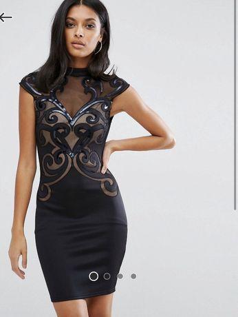 Nowa Sukienka Lipsy Asos czarna rozmiar 10 / 38 sylwester