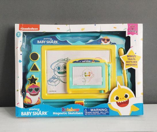 Магнитная доска для рисования из США / Baby Shark Rainbow