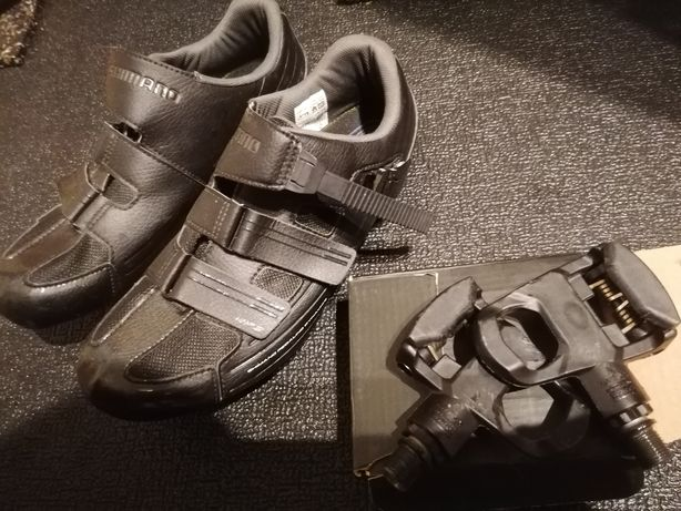 Sapatos shimano rp3 + pedais look keo + cleats