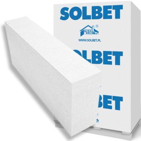 Bloczek , pustak biały SOLBET beton komórkowy 12x24x59