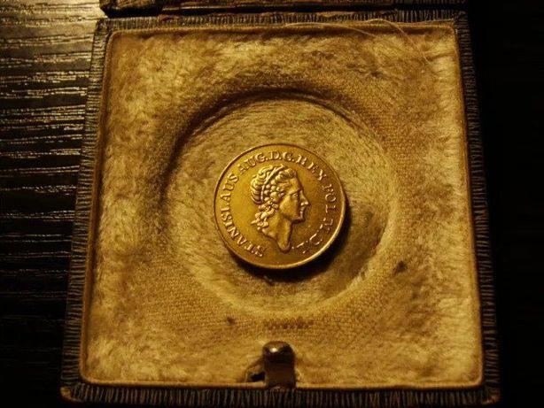 Złota Polska Dukat moneta 1789 Stanisław August Poniatowski