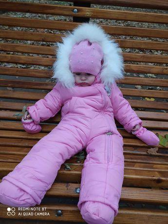 Комбинезон на девочку зима