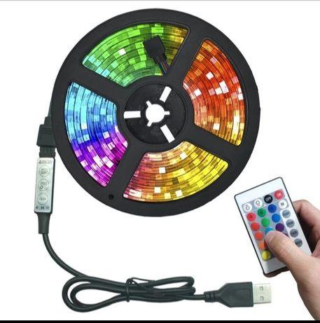 Светодиодная лента RGB комплект длина 5 метров Распродажа