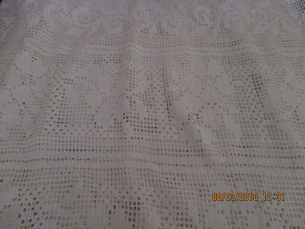 colcha de renda crochet feita a mão