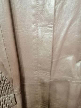 Женская куртка, кожаная