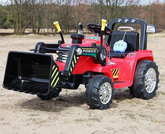 Mocny Traktor Koparka na akumulator SIlniki Strong 2x45W