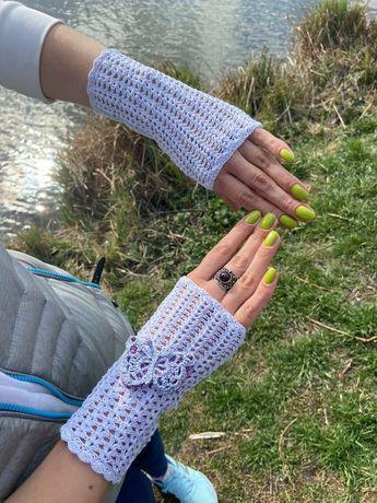 Перчатки - митенки женские