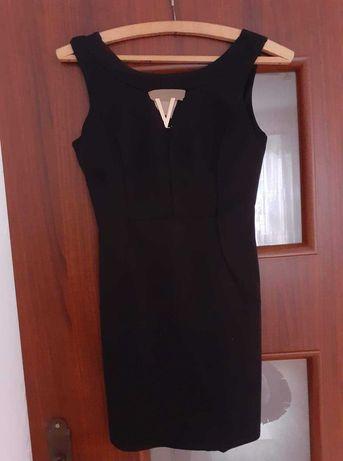 Czarna ołówkowa sukienka rozmiar S