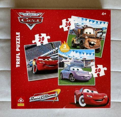 Puzzle AUTA - 4 pudełka + Toy Story