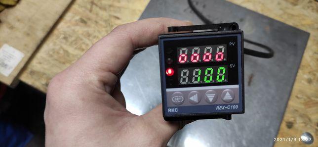 Regulator temperatury REX C100, komplet z czujnikiem temperatury