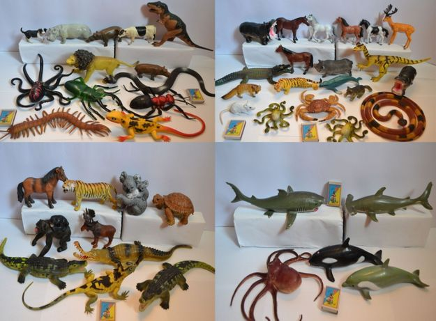 Фигурки животные, акула, тигр, сафари, морской мир, варан, крокодил