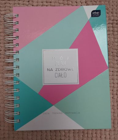 Fit planer notatnik-motywacja-pastelowy - mój plan, moje zdrowe ciało