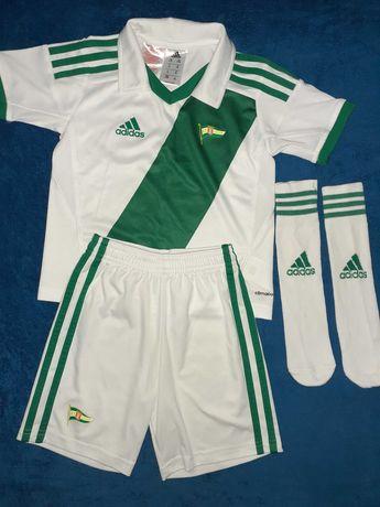 LECHIA GDAŃSK komplet piłkarski ADIDAS na 98 cm 2-3y